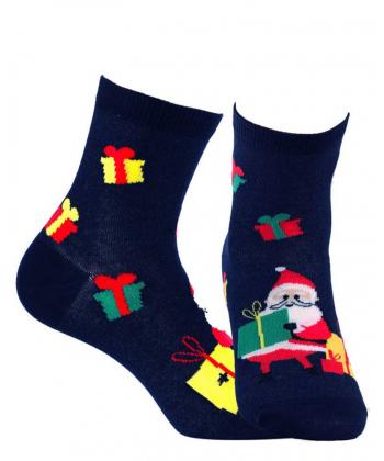 Detské modré ponožky WOLA