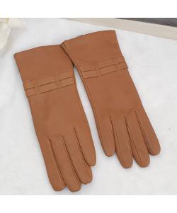 Dámske camel kožené rukavice