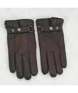 Pánske čierne kožené rukavice