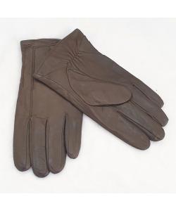 Pánske tmavo-hnedé kožené rukavice