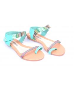 Sandálky zelené WOJTYLKO