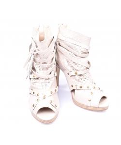 Členkové sandálky bežové VICTORIA DELEF