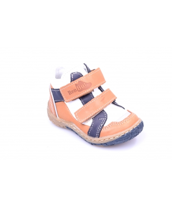 Členkové topánky bielo-hnedé RENBUT