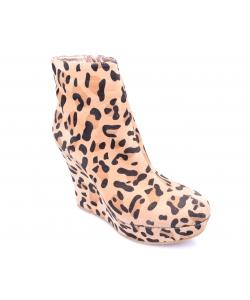 Kotníčkové čižmy leopardie BAMBOO