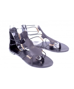 Sandálky black VESUVIO