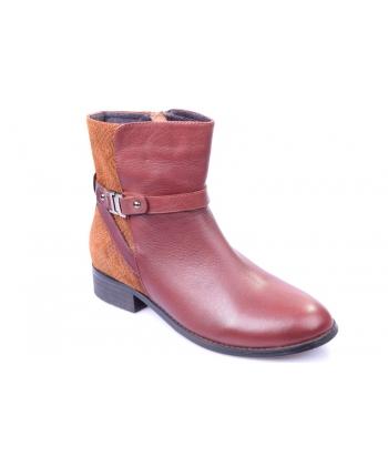 Výpredaj Členkové topánky bordové EVENTO f5a4f267af9