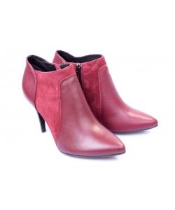 Členkové topánky bordové ZUREK