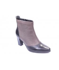 Členkové topánky čierno- hnedé JAMI