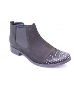 Členkové topánky black EXQUISITE