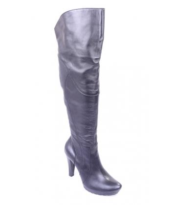 Výpredaj Dámské vysoké čižmy čierne LA MARIA 4ef00f19b82