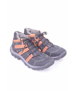 Mládežnícke čižmy čierno-oranžové IGUANA