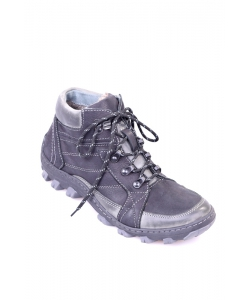 Pánske čierne trekingové topánky IGUANA
