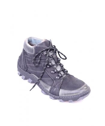 Pánske čierne trekingové topánky IGUANA b1d28bb9fd5