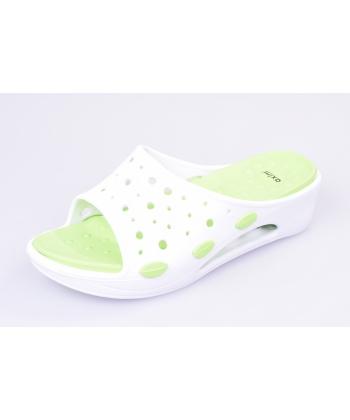 c9a9596597c3 Bielo-zelené šľapky AXIM