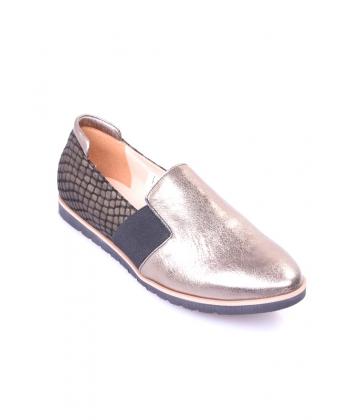 e864fae06ac4f Slip-on topánky zlaté JAMI