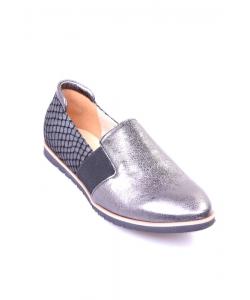 Slip-on topánky strieborné JAMI