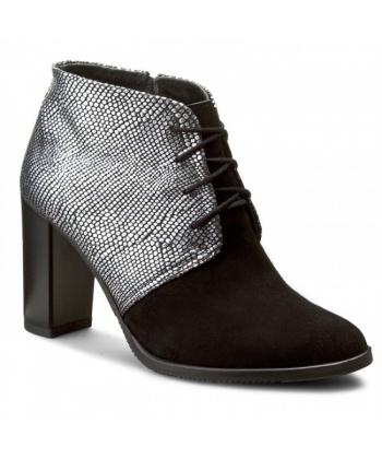 002e217f0df54 Dámske topánky čierno-sivé LANQIER