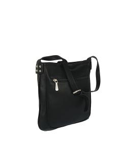 Dámska zlato-čierna kabelka MONNARI