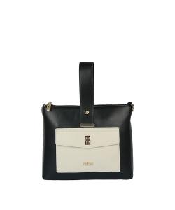 Dámska čierno-biela kabelka NOBO