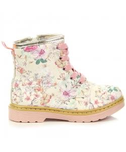 Dievčenské členkové béžové topánky