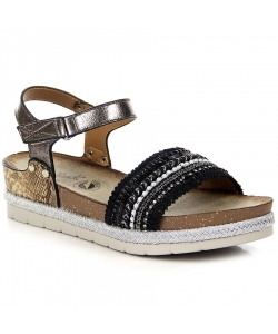 Sandále black WISHOT